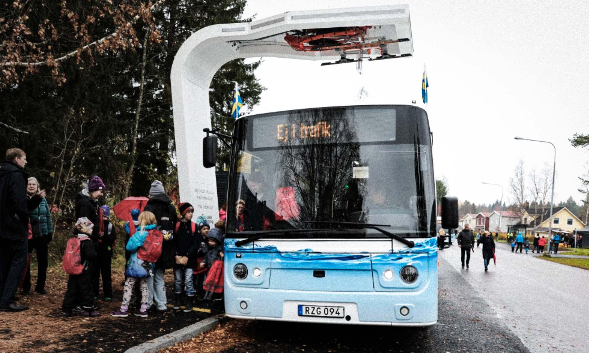 Elektrobus von Linkker in Luleå